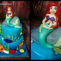 Little mermaid mom