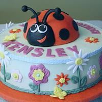 Ladybug and Flowers Birthday by Deb Miller