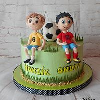 Football cake for boys