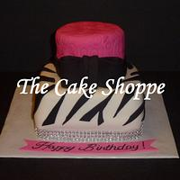 zebra and bling cake by THE CAKE SHOPPE