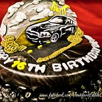 Mustang GT Cake for a Boy's Sweet 16 by Jennifer's Edible Creations