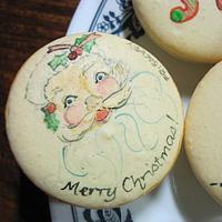 Hand Painted Christmas Macarons