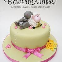 Easter Springtime Lamb and bunny cake