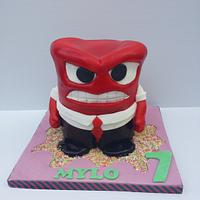 Inside out anger cake