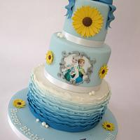 Frozen Fever 3 Tier Cake