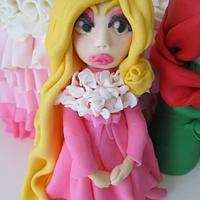 Couture Princess Rapunzel Gumpaste Figurine