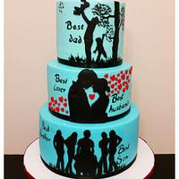 """""""Story of a Man"""" Cake"""