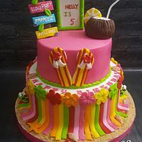 Hawaiin Aloha birthday cake
