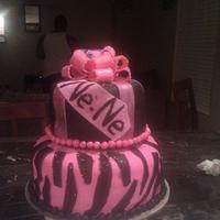A diva cake for my 10 year old daughter..