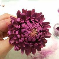 Crisantemo en pasta de azúcar / chrysanthemum gumpaste