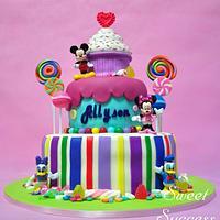 Mickey & Friends Candyland Cake