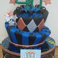"""40"" mad hatter cake"