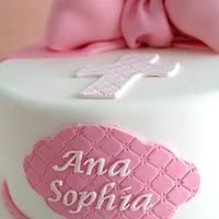 Pink Ruffles Baptism Cake by Make Fabulous Cakes