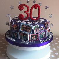 30th Birthday photo cake by Carrie