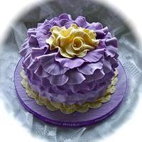 Rose petal cake by Vanessa
