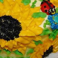 Sunflower & Ladybug cake design by Nancys Fancys Cakes & Catering (Nancy Goolsby)