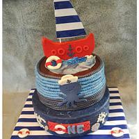 Lennon's 1st Birthday Cake