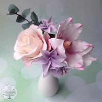 Rose and Magnolia