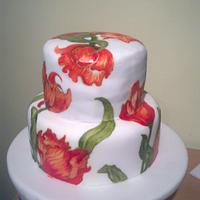 Tangerine Painted Cake