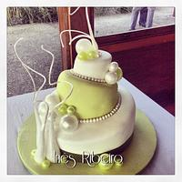 Wedding cake with blowing sugar