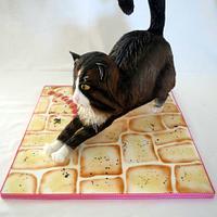 Life-size cat cake...