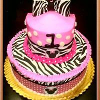 Minnie Mouse with Zebra Print