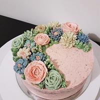 Succulent buttercream cake