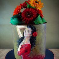 Spanish 40th Cake
