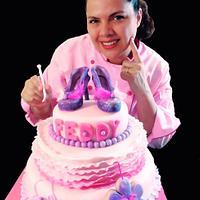 GLITTER SHOE CAKE