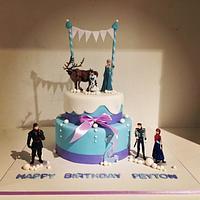 Disney Frozen Themed Cake