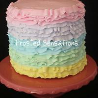 Easter Ruffle cake