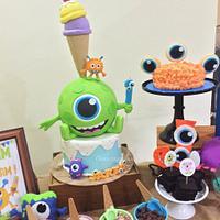Monster and ice cream cake