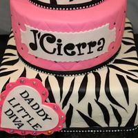 Daddy Little Diva Birthday Cake by Debra