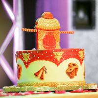 Band,baaja and my brother's wedding cake !