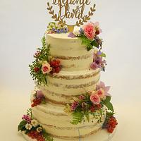 Fresh Flower Naked Cake