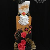 Venetian Costume inspired cake @Venetian Carnival 2017 Collaboration