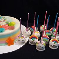 Unicorn Gelatine and Cake Pops