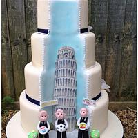 Hidden scene wedding cake