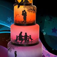 """Love Story"" Wedding Cake CI 2014"