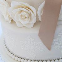 Carries and Sams wedding cake by Jo Tan