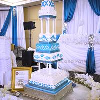 Tall wedding cake!
