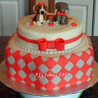 Dog Bridal Shower Cake