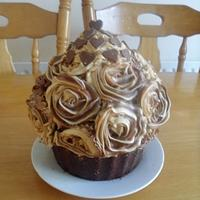Chocolate and Coffee Giant Cupcake
