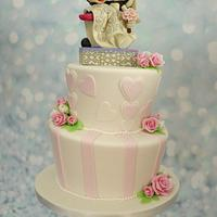 Sweet Minnie and Mickey weddingcake