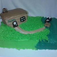 Cabin Life - 80th Birthday Cake