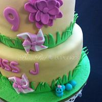 Cool Spring Themed Cake by Beau Petit Cupcakes (Candace Chand)