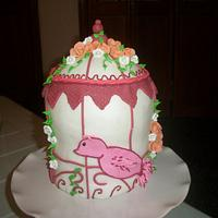 bird cage cake by Enchanted Cakes on FB