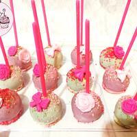 Pink glittery Cakepops