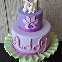 Magnificent Fashionista Dog Themed Birthday Cake By Jessica Cakesdecor Funny Birthday Cards Online Fluifree Goldxyz