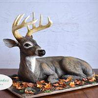 Sculpted Deer Cake